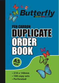 Butterfly A5 Duplicate Book - Order 200 Sheets