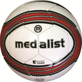 Medalist Match Soccer Ball - White/Red - Size 5
