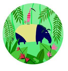 Petit Jour Paris - Jungle Tapir Plate