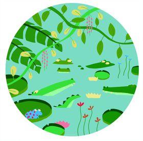Petit Jour Paris - Jungle Crocodiles Plate