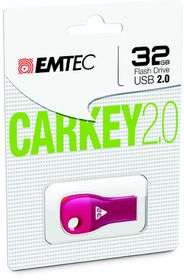 Emtec D300 USB 2.0 Car Key 32GB - Pink