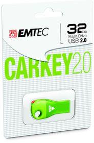 Emtec D300 USB 2.0 Car Key 32GB - Green