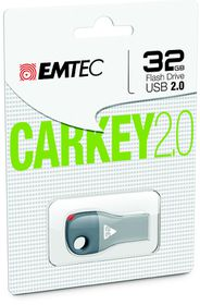 Emtec D300 USB 2.0 Car Key 32GB - Grey