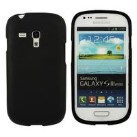 Frosted Samsung Galaxy S3 Mini i8190 Case - Black
