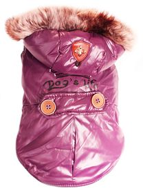 Dog's Life - Royale Parka Jacket With Hood Purple - Extra Small