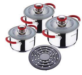 Wellberg 7 Piece Cookware Set - Red
