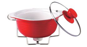 Wellberg - Round Food Warmer - Red