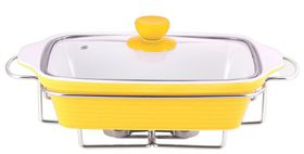 Wellberg - Rectangle Food Warmer - Yellow