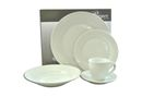 Regent White Porcelain Dinner Set - 20 Piece