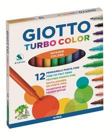 Giotto Turbo Color 12 Fine Fibre-Tip Pens