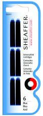Sheaffer Univeral Ink Cartridges 6's - Blue