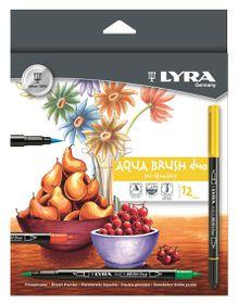 Lyra 12 Aqua Brush Duo Fibre Pens
