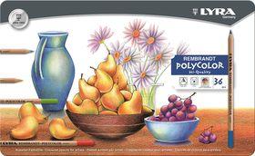 Lyra Rembrandt Polycolor Pencils - 36 Colours in Metal Box