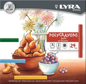Lyra Polycrayons Pastels - 24 Colours in Box