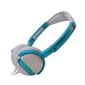 VCOM DE011 Headphone With Microphone 3.5mm Fold - Blue