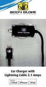 Body Glove 2.1amp Car Charger Mifi Lightning - Black