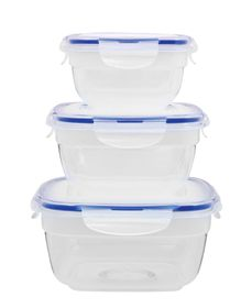 Lock & Lock - Zen Square Nestable Container Clear Set - 3 Piece