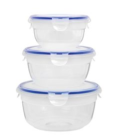 Lock and Lock Zen Round Nestable Container Clear Set - 3 Piece