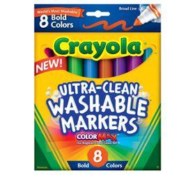Crayola 8 Ultra Clean Broadline Markers