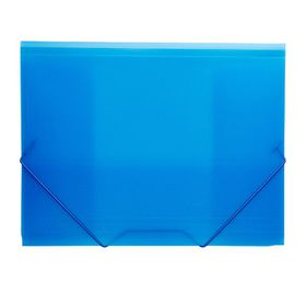 Meeco Foolscap PVC Elastic Carry Folder - Blue