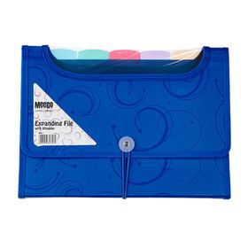 Meeco 6 Division Expanding File with Window - Blue