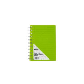 Meeco Creative Collection A6 80 Ruled Sheets Spiral Bound Notebook - Green
