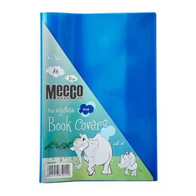 Meeco A4 130 micron Clear Fitted Book Covers - Blue (10 Pack)