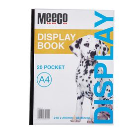 Meeco A4 Display Book - 20 Pockets