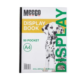 Meeco A4 Display Book - 50 Pockets