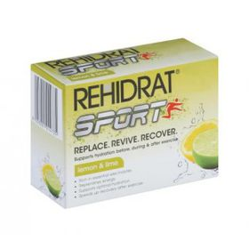 Rehydrate Lemon & Lime Sport - Pack of 6