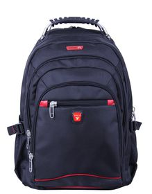 "Tosca Classic Deluxe Steel Handle 15"" Laptop Backpack - Black"