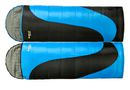 Oztrail Tasman Twin Pack Sleeping Bags - Blue & Black