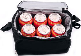 Marco 1200D 6 - Can Cooler Bag - Black