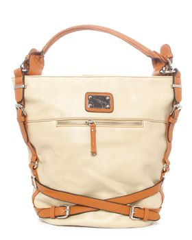 Blackcherry Tote in Off White and Tan