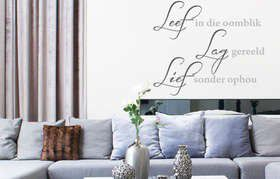 Fantastick - Leef Quote Wall Poetry - Small