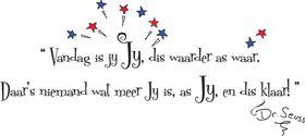 Fantastick - Dr Seuss quote Afrikaans Wall Art