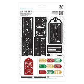 Xcut A5 Die Set - Christmas Gift Tags (12 Pieces)