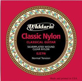 D'Addario EJ27N Student Nylon Normal Tension Classical Guitar Strings