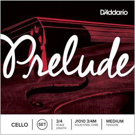 D'Addario Prelude Medium Tension 3/4 Cello Strings