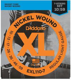 D'Addario EXL110-7 Nickel Wound Regular Light 7-String  Electric Guitar Strings - 10-59