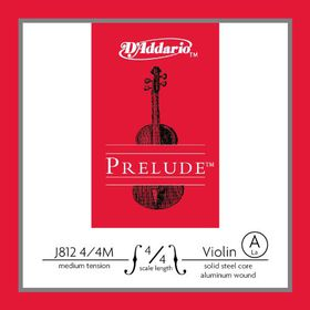 D'Addario Prelude Medium Tension 4/4 Scale Violin A Single String