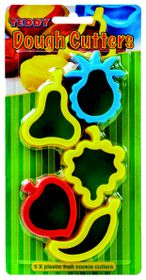 Teddy 5 Plastic Fruit Dough Cutters