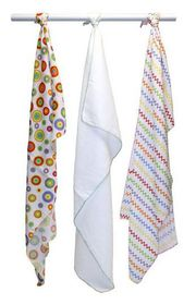 LittleCo - Muslin Blanket 3 Pack - Brights