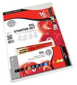 Daler-Rowney Simply Oil 16 Piece Starter Set