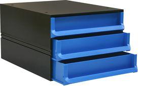 Bantex Texo Modular 3 Drawer Storage System - Cobalt Blue