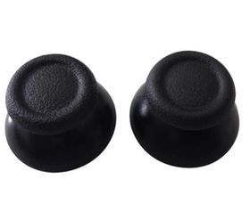 Original Thumb Stick Replacements x2 (Spare Parts) - Black (Assecure) (PS4)