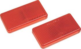 Moto-Quip - Red Oblong Self Adhesive Reflectors