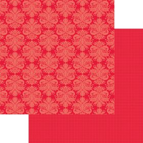 Lady Pattern Paper Basic Essentials Damask - Red Pop (10 Sheets)