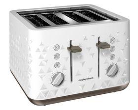 Morphy Richards 4 Slice Prism Toaster - White