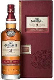 The Glenlivet 21 Year Old Single Malt Whiskey (750ml)